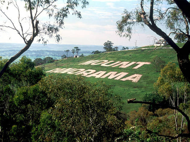 The iconic hill of Mount Panorama