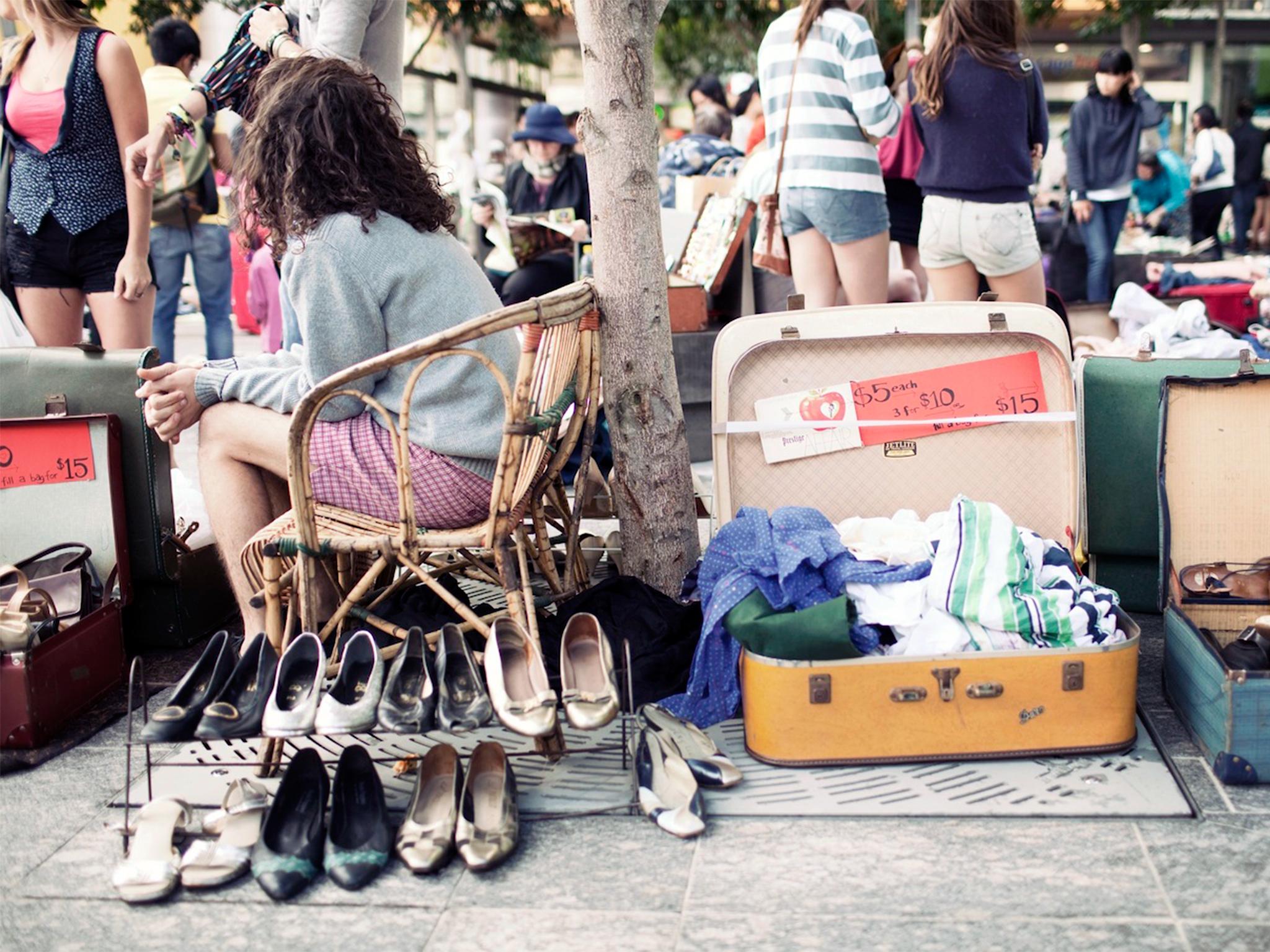 Clothes, books and bric-a-brac