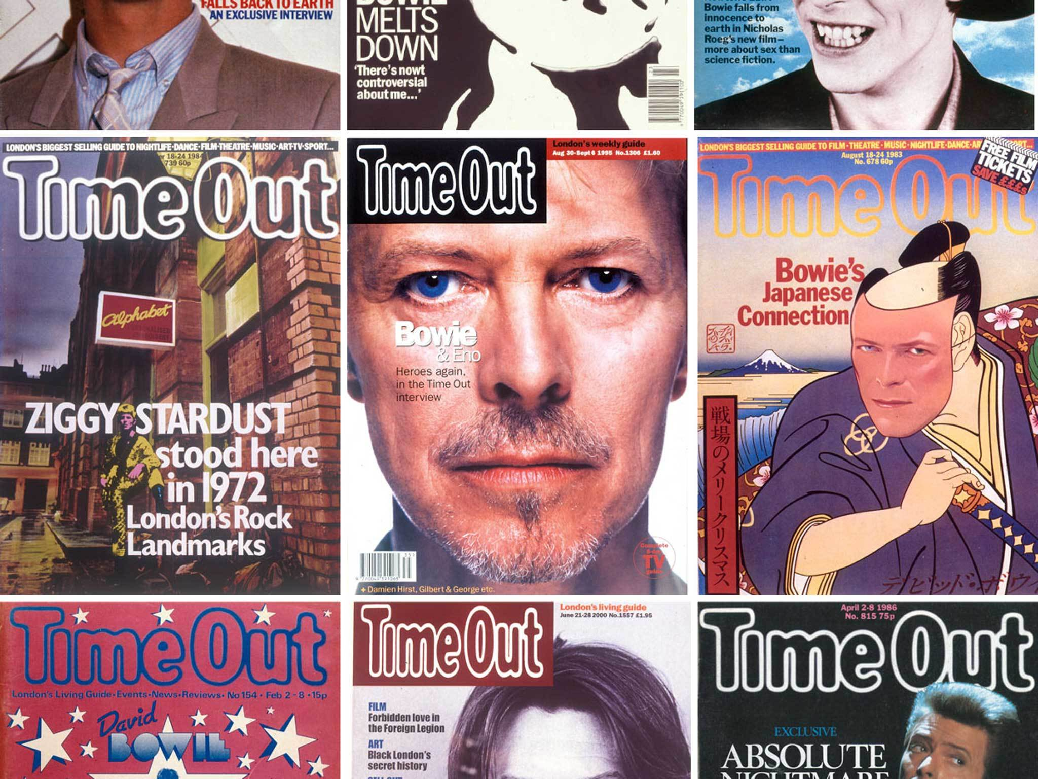David Bowie Time Out covers crops