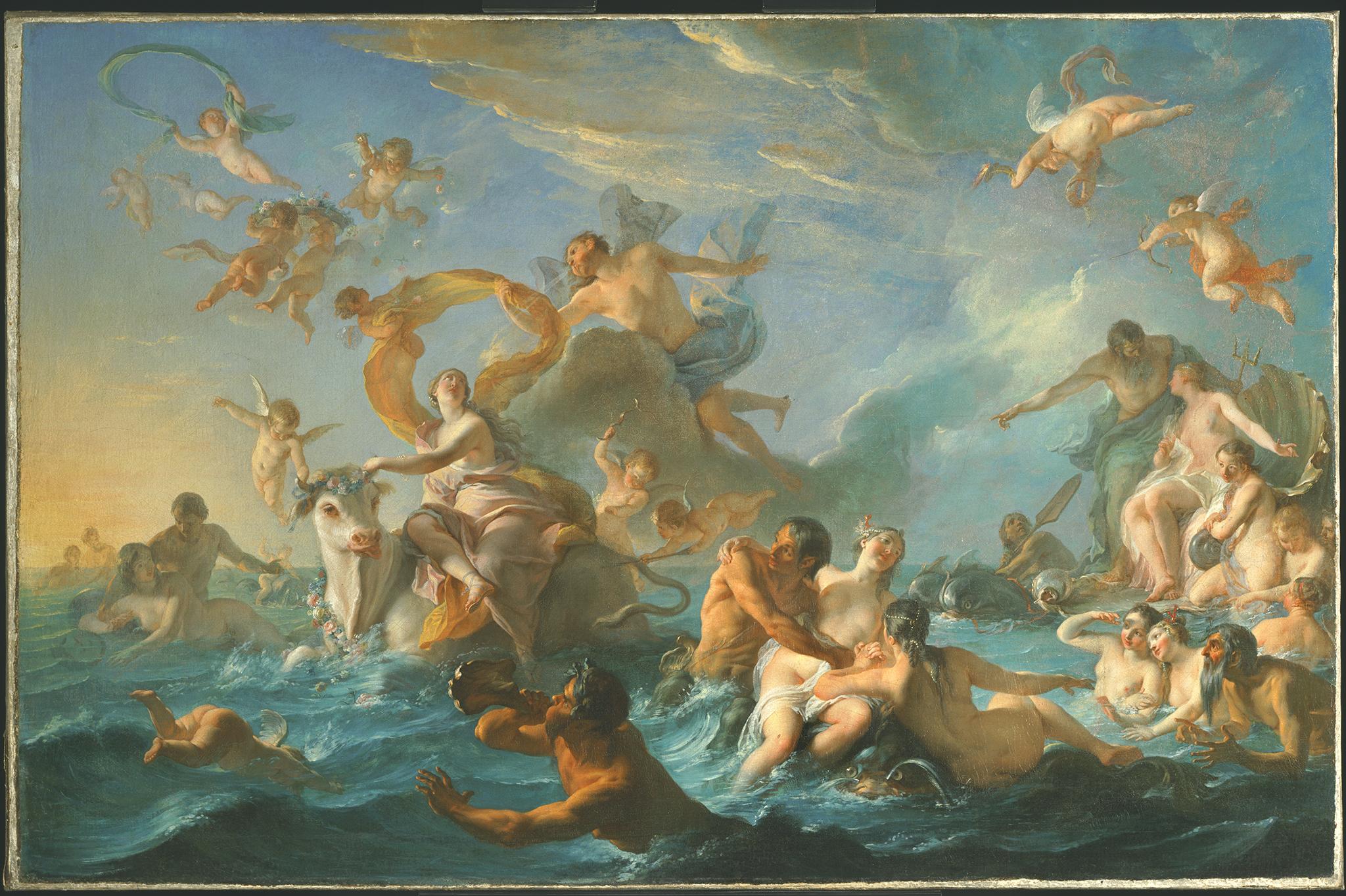 "Noel-Nicolas Coypel, ""The Abduction of Europa,"" 1727"
