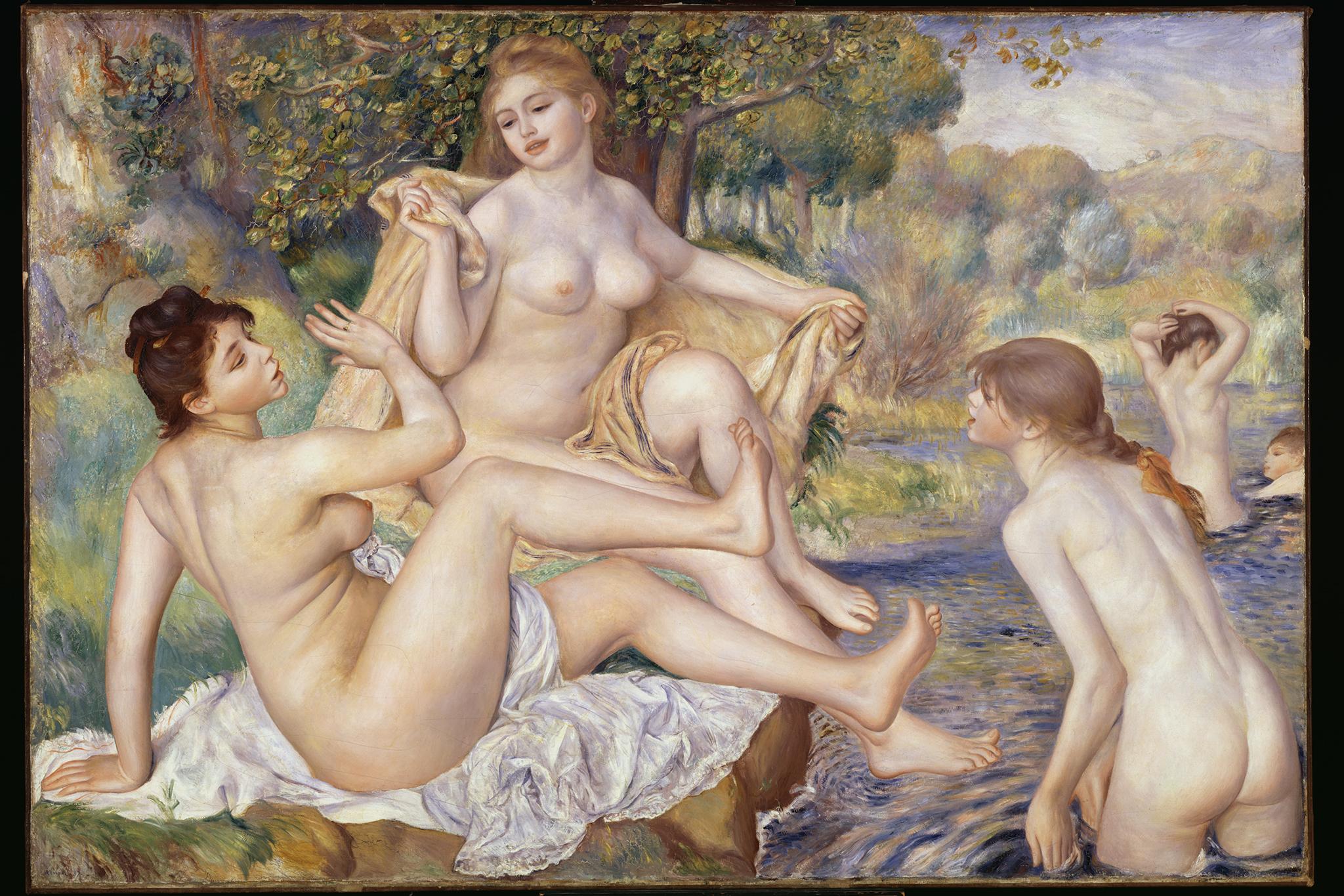 "Pierre-Auguste Renoir, ""The Large Bathers,"" 1884-87."