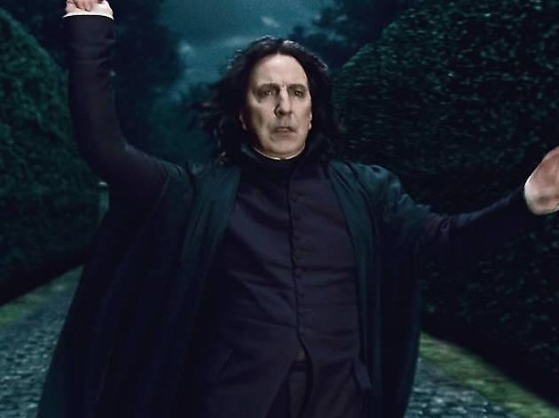 Alan Rickman en su personaje de Snape