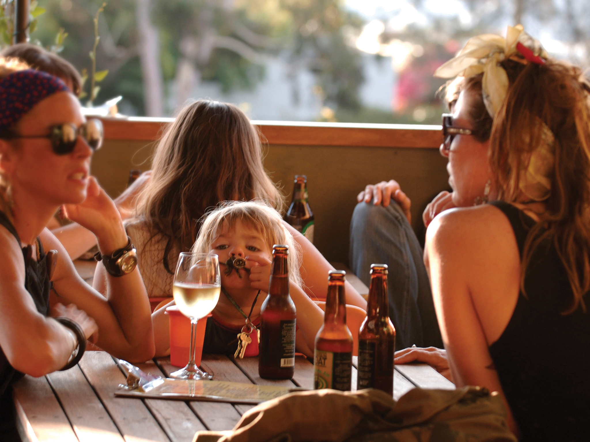 Women having a drink at a child-friendly pub