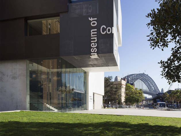An exterior shot of the entrance to the Museum of Contemporary A