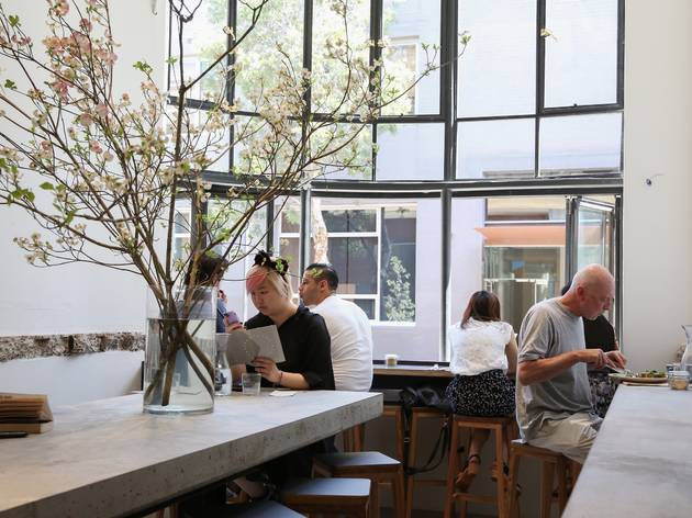 An interior shot at Paramount Coffee Project showing the main li