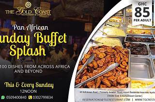 Sunday Buffet splash at Gold coast, Accra, Ghana