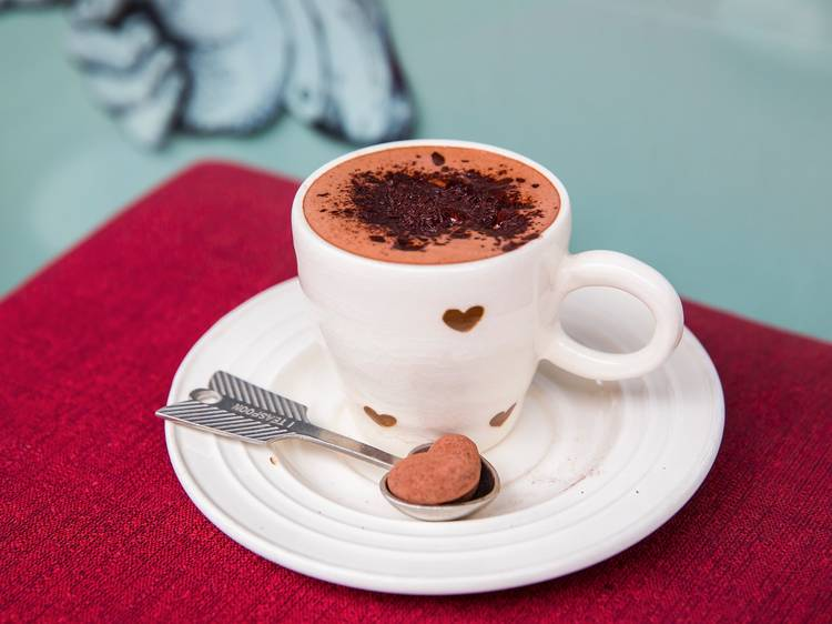 Seek out the best hot chocolate in town