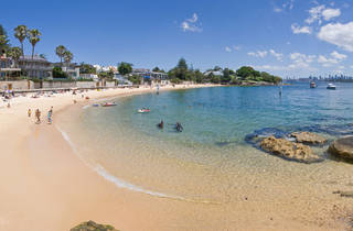 A panoramic view of Camp Cove beach in Watson's Bay