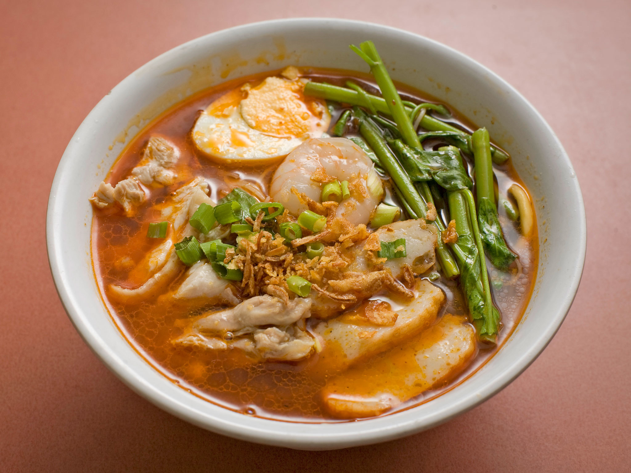 A bowl of Malaysian noodle Harmee
