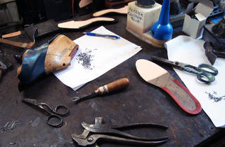 Tools required for making a shoe by hand