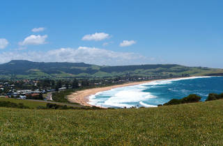 A view of the beach at Gerringong