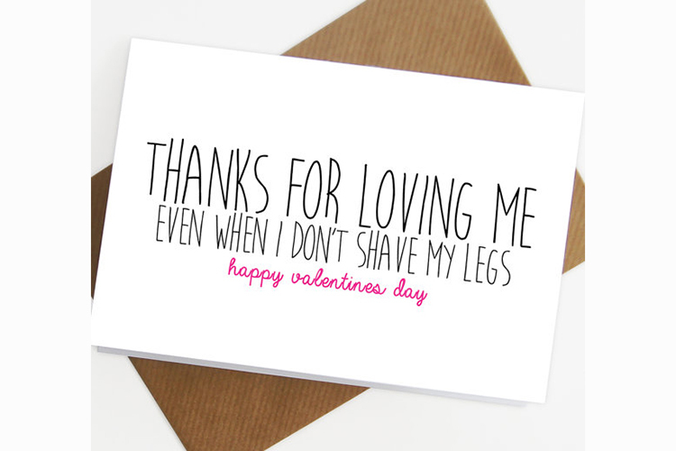 Funny Valentines Day cards for unromantic people – Mushy Valentine Cards