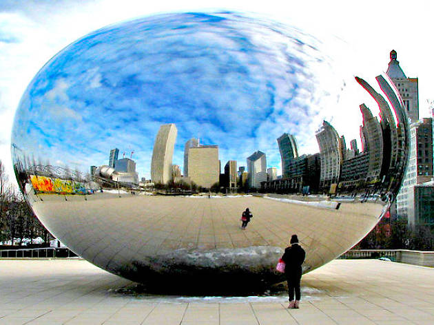 cloud gate, the bean, winter, millennium park