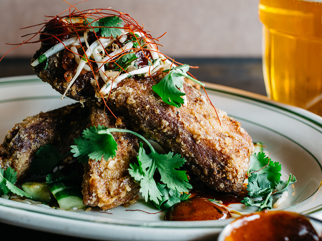 Crispy Ancho Chile Rubbed Ribs from Tony Maws, Kirkland Tap and Trotter, Boston