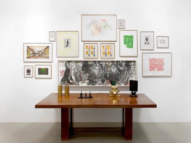 """Vue de l'exposition """"Entre eux et moi"""" - galerie Catherine Putman"""