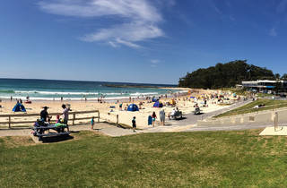 A view of Mollymook Beach
