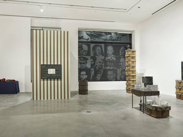 (Installation view, 'Oscuramento. The Wars of Fabio Mauri', Hauser & Wirth London. © Estate Fabio Mauri. Courtesy Estate of Fabio Mauri and Hauser & Wirth Photo: Alex Delfanne)
