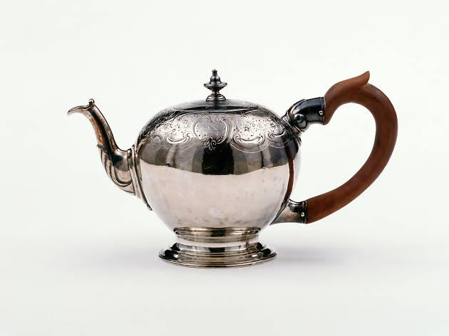 A posh silver teapot, from 1744-5