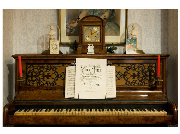 An upright Piano, from 1872
