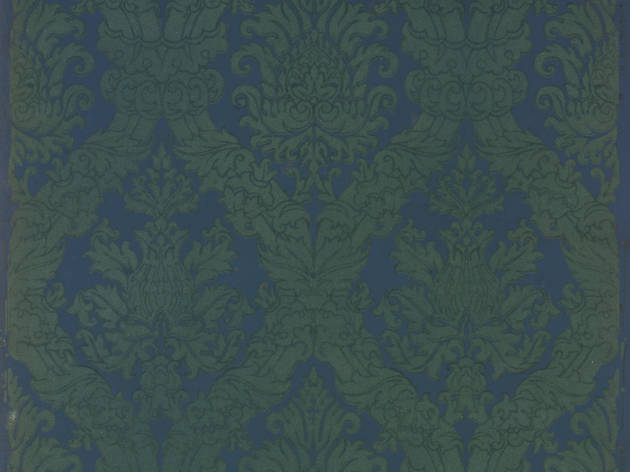 Section of fancy wallpaper, from around 1950