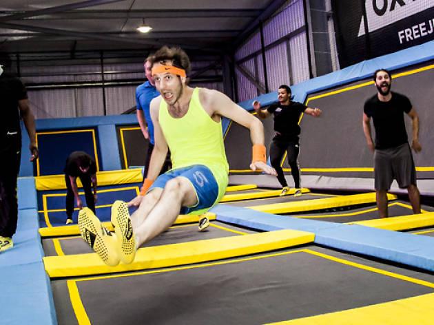 Alexi Duggins trampolining, weird workouts 2016