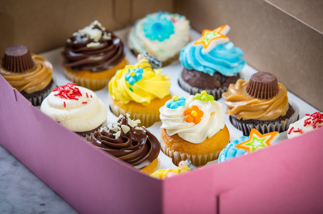 Cupcakes at Delightful Pastries.