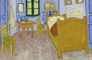 """Vincent Van Gogh. """"The Bedroom,"""" 1889. Third version."""
