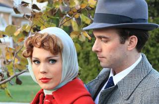 Summer Naomi Smart and Brandon Springman in a promotional image for Far from Heaven at Porchlight Music Theatre