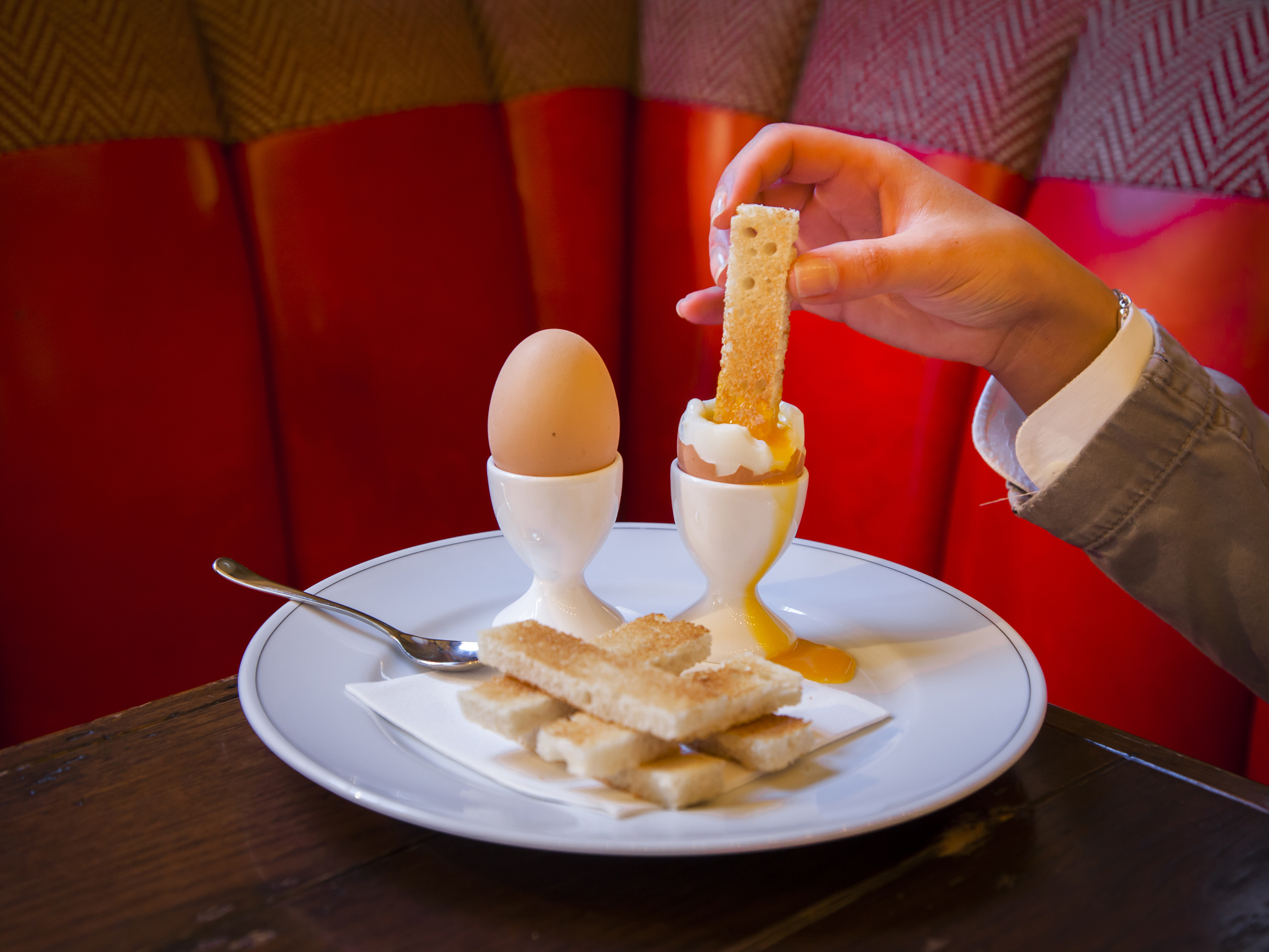 Egg dishes in London, Holborn Dining Rooms