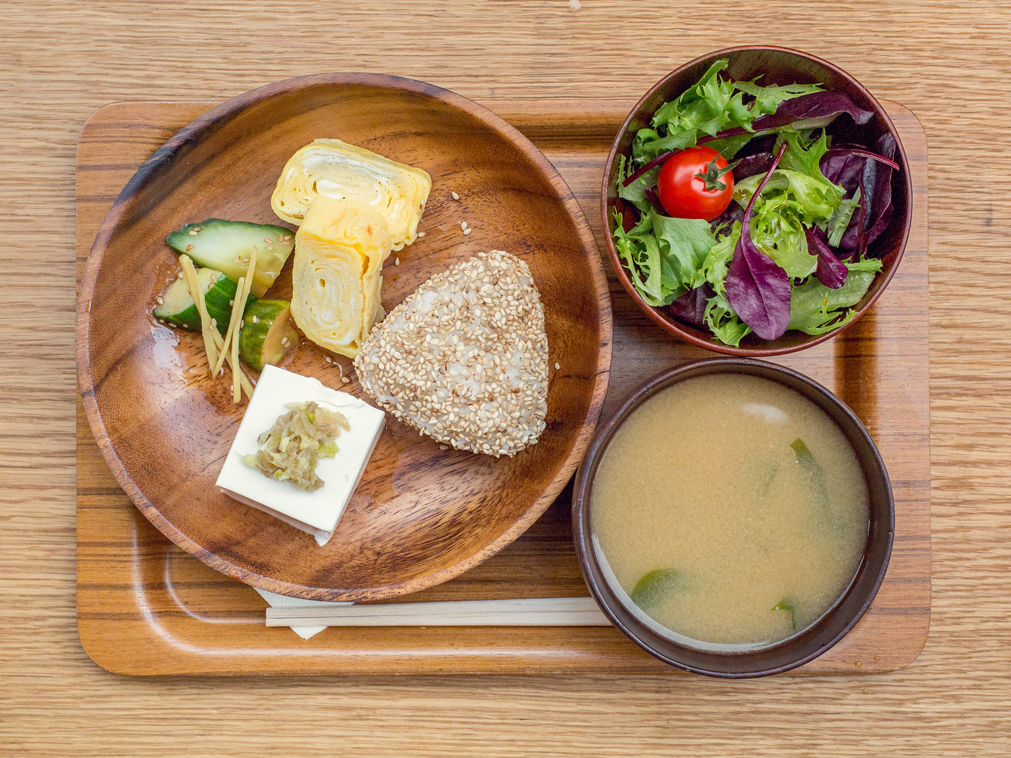Tamagoyaki at The Monocle Café, £8.50 as part of the Japanese breakfast