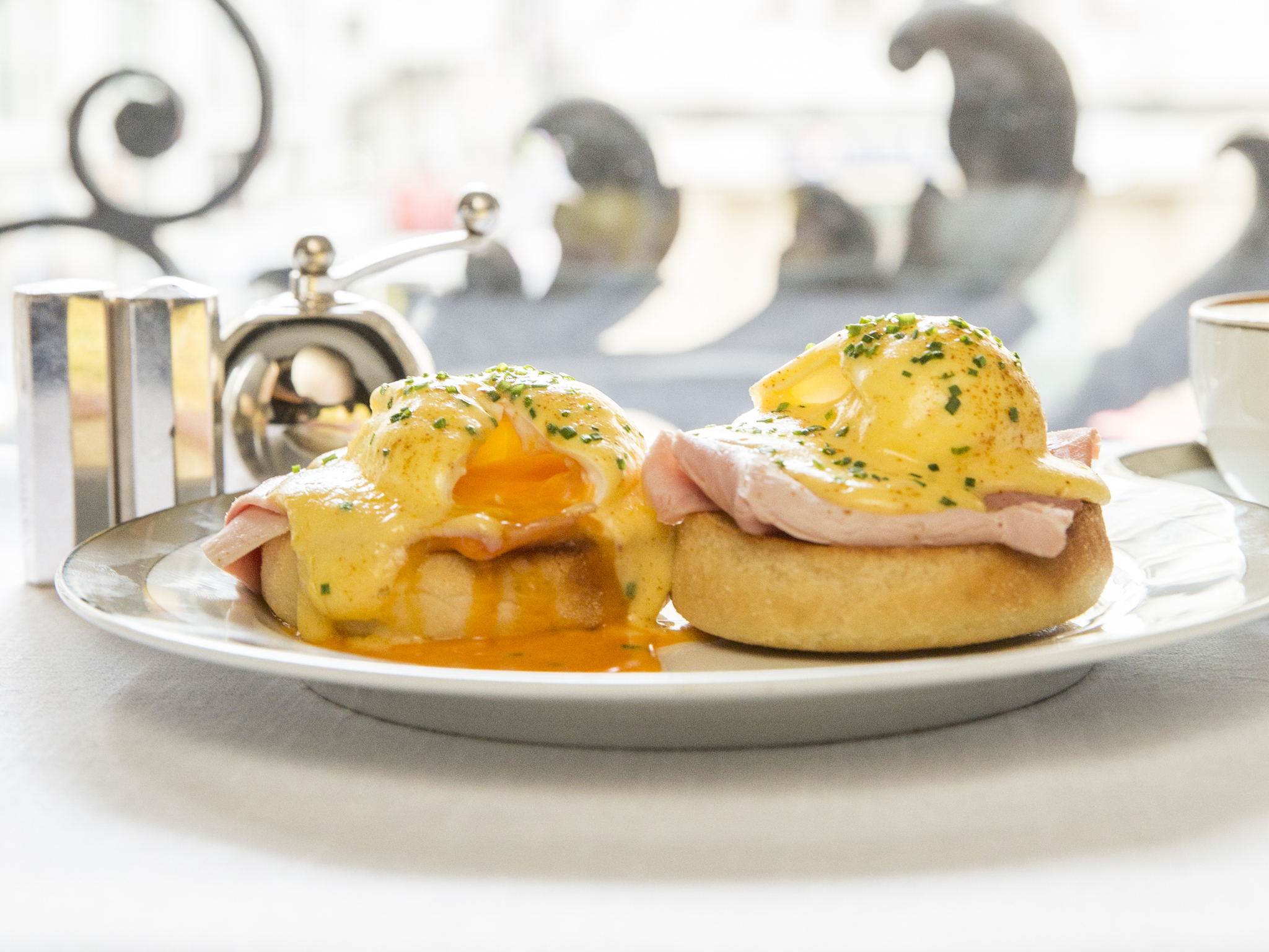 Eggs Benedict  at The Wolseley,  £7.50 small, £14.50 large