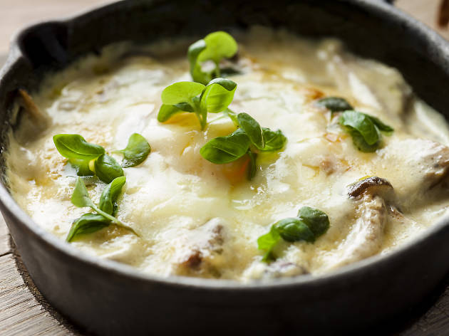 Egg dishes in London, duck eggs en cocotte at Duck and Waffle