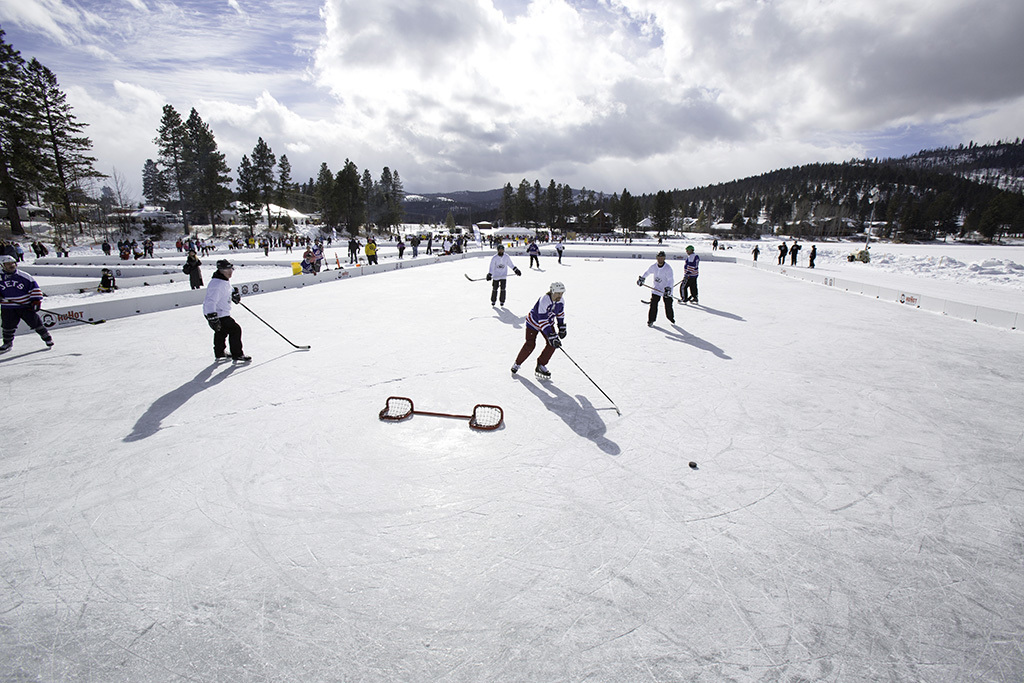 Watch the Pond Hockey Tournament in Kalispell