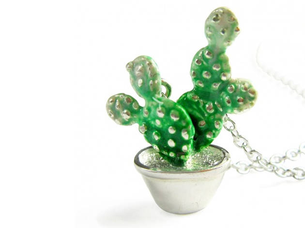 a small cactus necklace from Victoria Mason