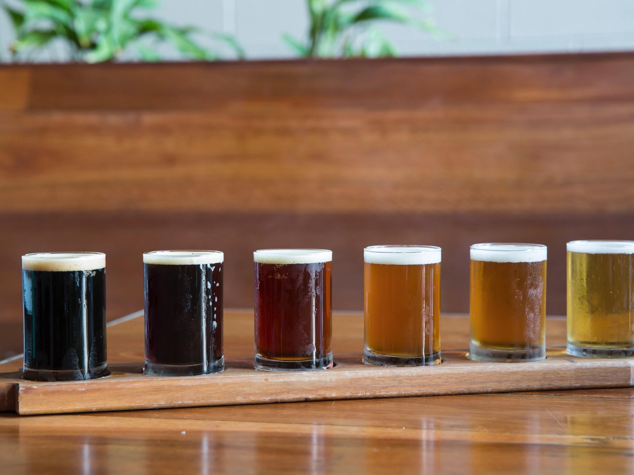 Craft beer varieties