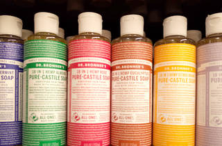 Dr Bronner's soap at Health Food Thyme