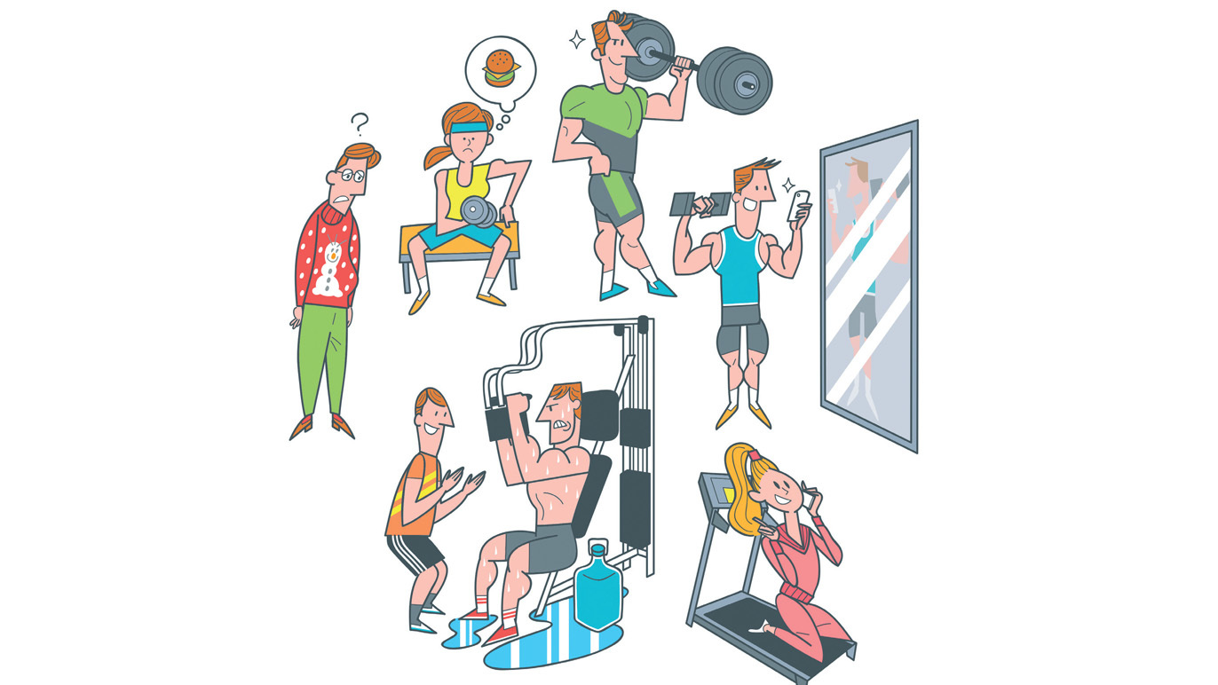 The eight species of gym rats