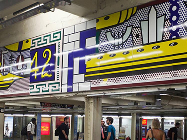 Roy Lichtenstein, Times Square Mural, 2002