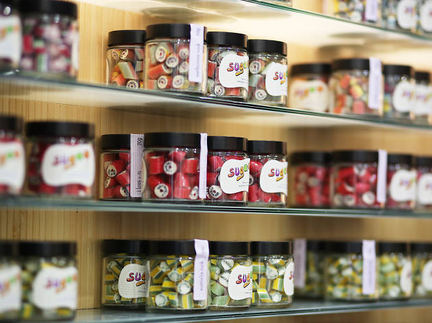 Jars of candy at Suga