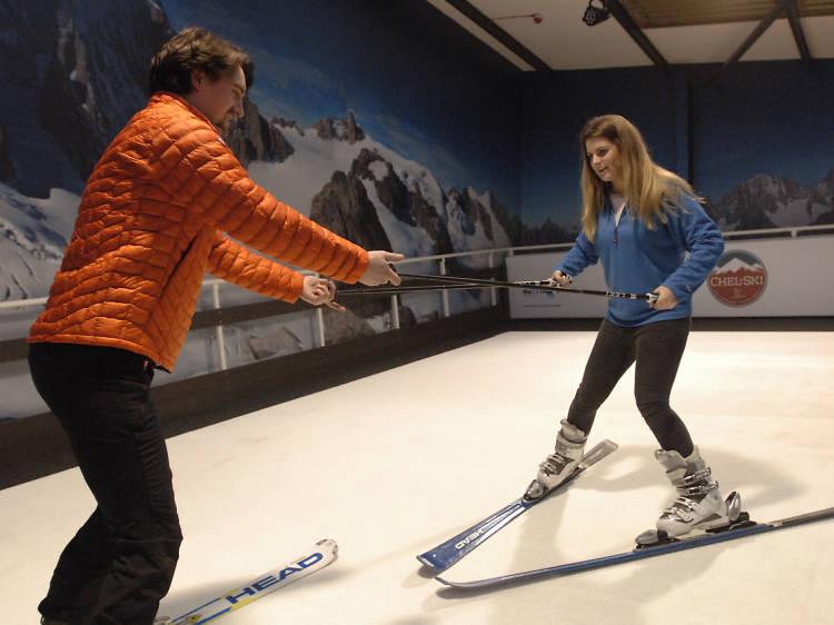 Whizz down the ski slopes