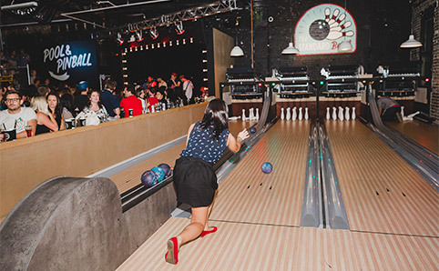 Go bowling at the Standard Bowl