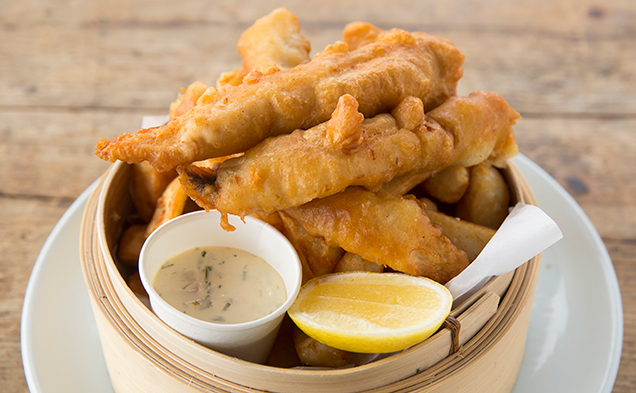 Fish and chips – The Boathouse
