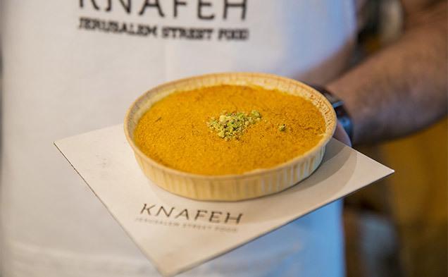 Classic knafeh from Knafeh Bakery in Sydney