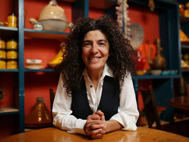 A portrait of Hana Assafiri, owner of Fitzroy restaurant Moroccan Soup Bar