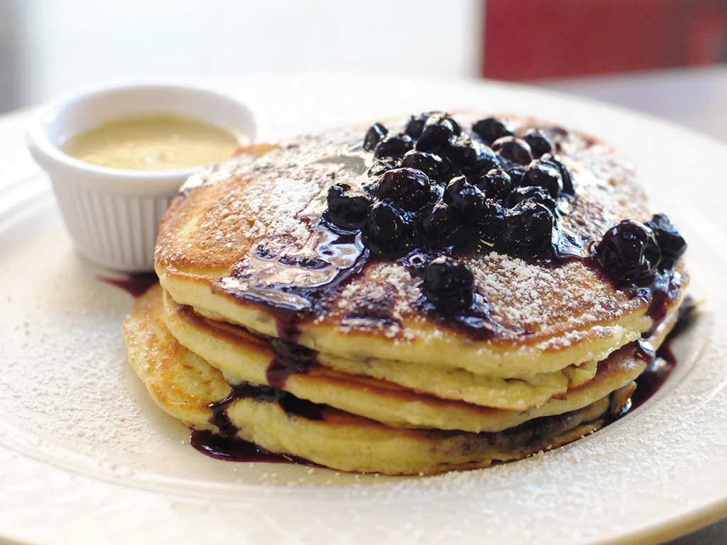 Blueberry pancakes at Clinton St Baking Company, New York City, NY