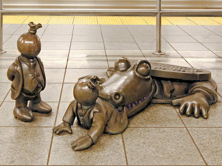 Tom Otterness, Life Underground, 2004