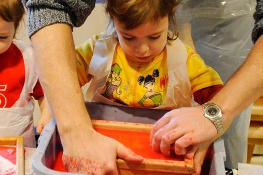Family Art Project: Heart Papermaking