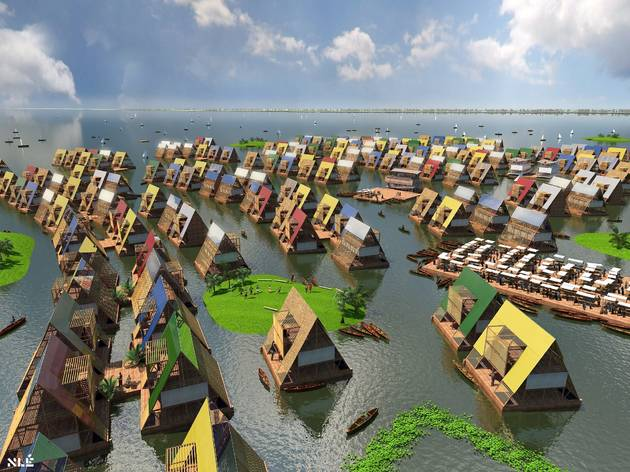 (Design for Water Communities, Lagos, Nigeria, by NLE. © NLE)