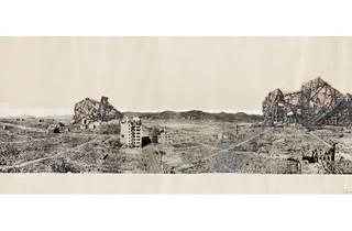 (Photomural – Reruined Hiroshima, projects by Arata Isozaki. © MOMA)