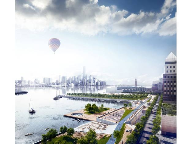 (Ideas for rebuilding Hoboken, New Jersey, after Hurricane Sandy. © OMA)